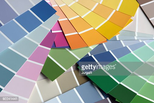 Paint Sample picking the right paint paint sample color swatch stock photo