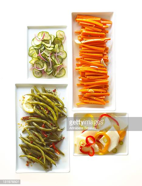 Pickled Cucumber, Carrots, Green Beans and Jicama