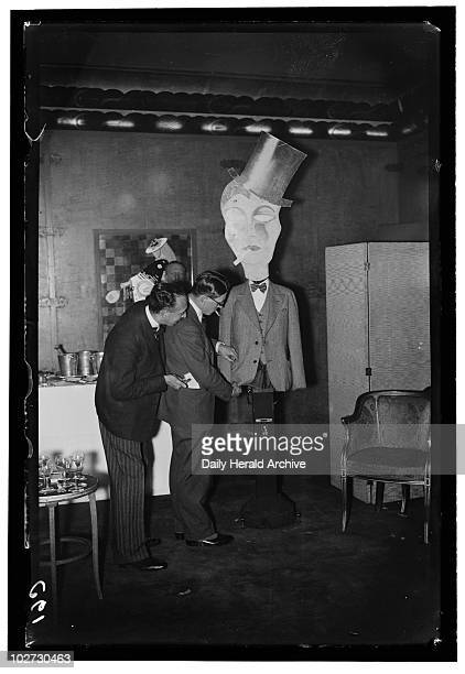 Pickpocketing lessons 1932 A photograph of a man receiving a lesson in pickpocketing from a cabaret artist at the Savoy Hotel London taken by...