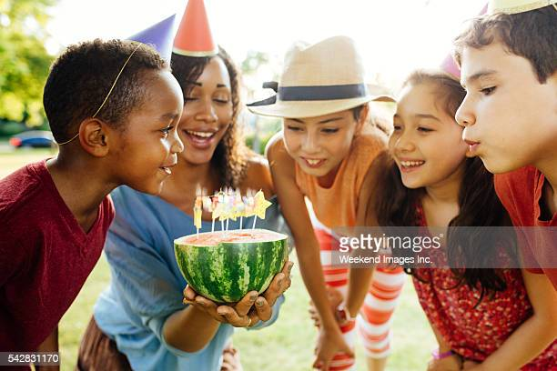 Picnic and  birthday's celebration