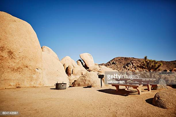 Picnic area in Joshua Tree National Park