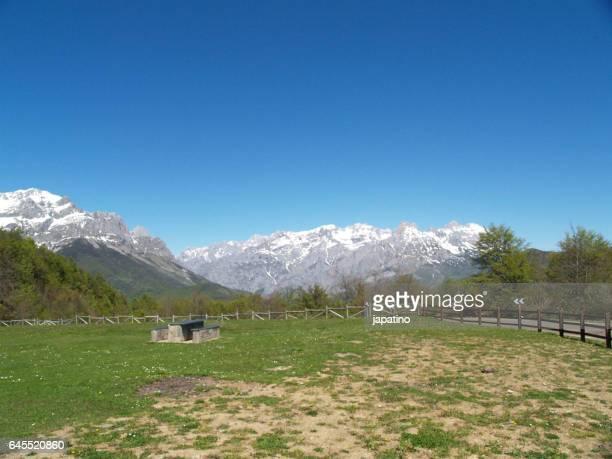 Picnic area in the Picos de Europa