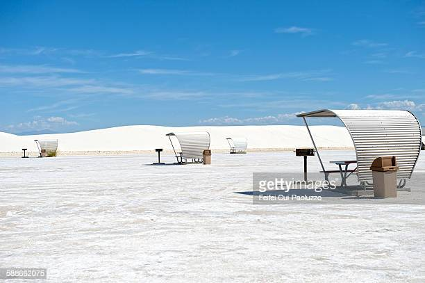 Picnic area of White Sands National Monument