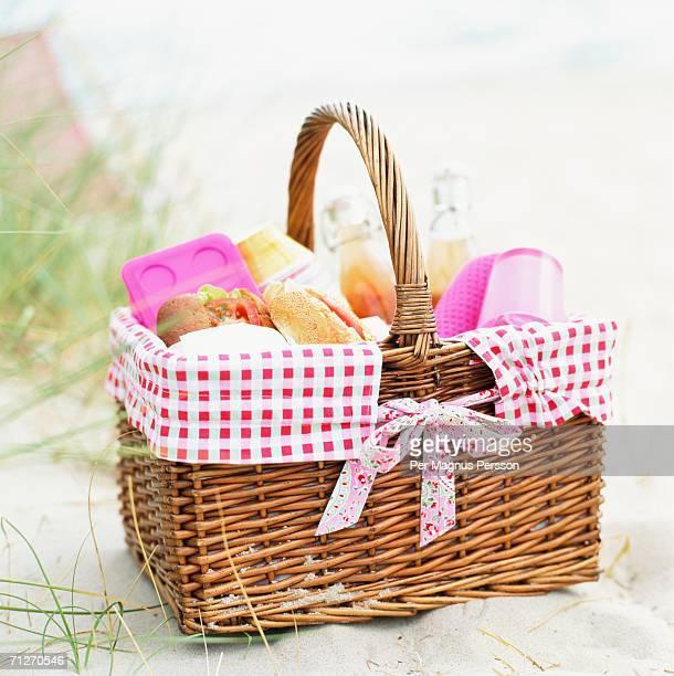 A picnic basket.