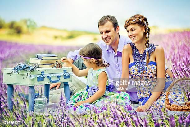 Picknick im lavender fields