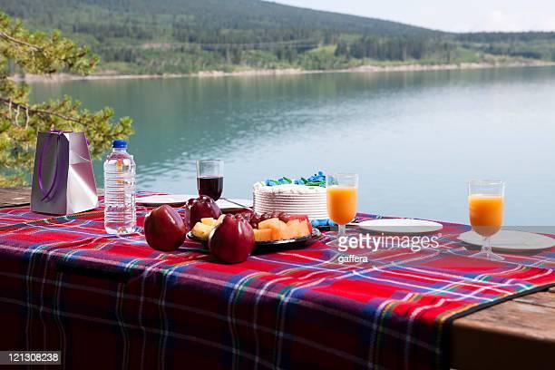 Picknick auf den See