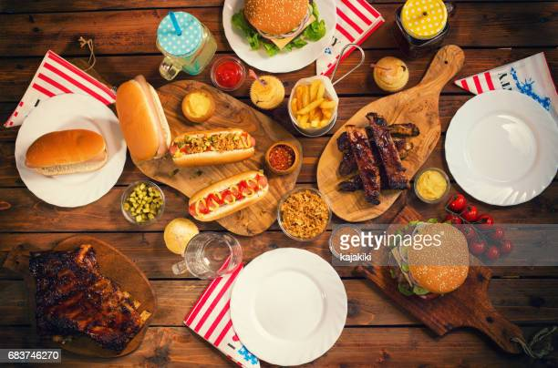 Picnic Table to Celebrate 4th of July