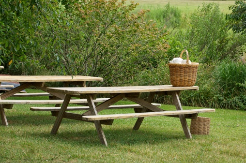 picnic table stock photos and pictures getty images. Black Bedroom Furniture Sets. Home Design Ideas