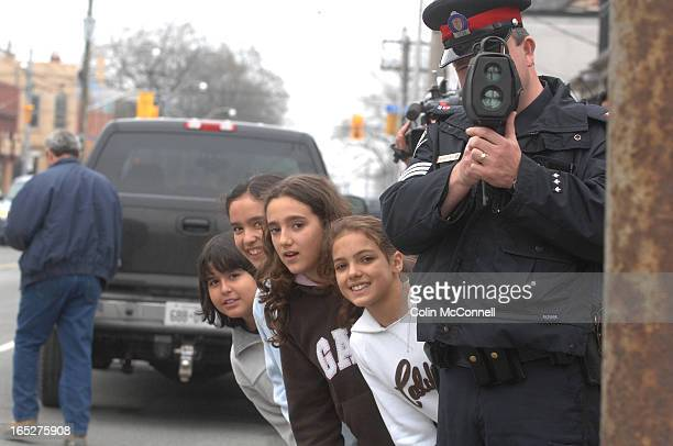 pics of students stopping speeders 14th division along with students from st lukes school targeted speeders along a school zone on ossington just...