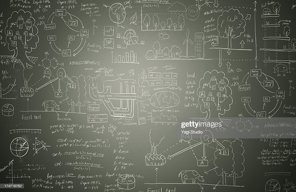 Picture and formulas : Stock Photo
