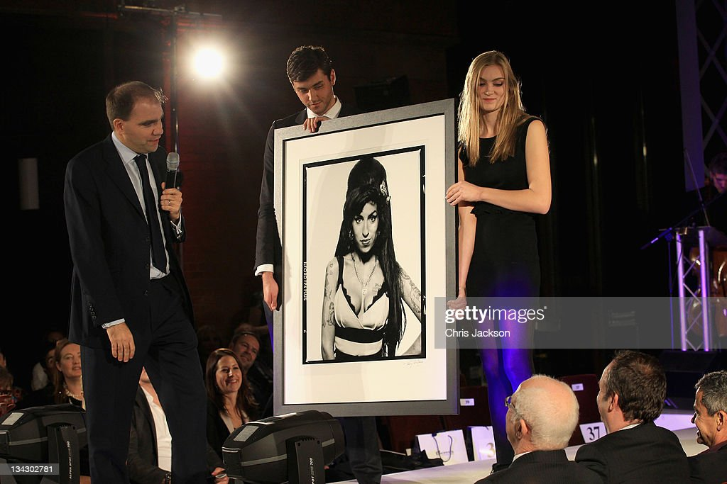 A picture by Terry O'Neil of Amy Winehouse is auctioned at the Hidden Gems Photography Gala Auction in support of Variety Club at St Pancras Renaissance Hotel on November 30, 2011 in London, England.