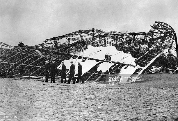 Picture dated 07 May 1937 of the framework of the German giant zeppelin 'Hindenburg' in Lakehurst USA Pride of the German Third Reich the Hindenburg...