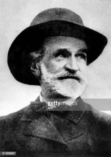 Picture dated 1900 of Italian composer Guiseppe Verdi