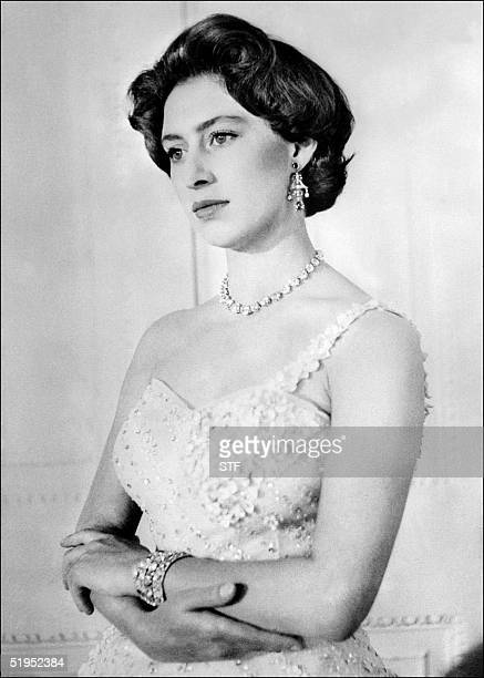 Picture dated 1956 of British Princess Margaret Queen Elisabeth's sister during her 26th birthday