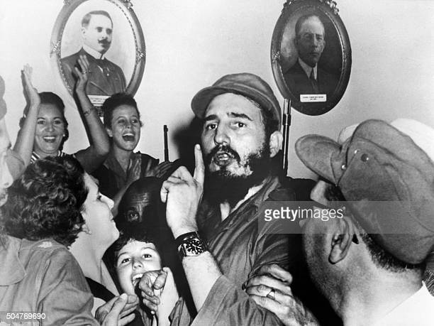 Picture dated 1959 of Cuban leader Fidel Castro shortly after toppling dictator Fulgencio Batista during the revolutionary triumph in Cienfuegos 04...
