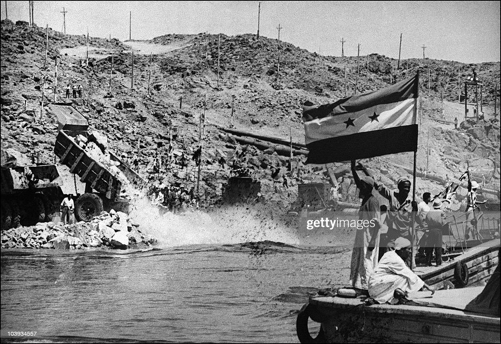 Picture dated 1960 showing the construction of the Aswan high dam in Egypt The construction of the Aswan High Dam was initiated by Gamal Abdel Nasser...