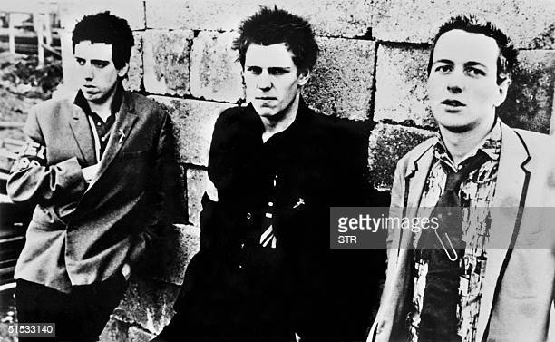 Picture dated 1978 of British punk rockers from the band The Clash Joe Strummer Mick Jones and Paul Simonon Joe Strummer died on Sunday 22 December...