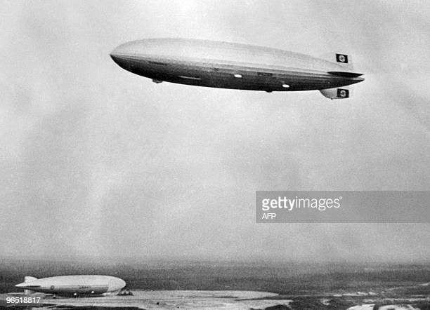 Picture dated 21 May 1936 of German giant zeppelin 'Hindenburg' in Lakehurst USA Pride of the German Third Reich the Hindenburg the largest aircraft...