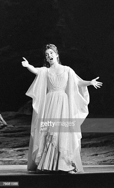 Picture dated 23 May 1964 of Opera singer Maria Callas performing in Vincenzo Bellini's 'Norma' in Paris Thirty years after her death in Paris 16...