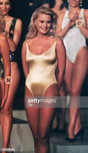 Picture dated 28 December 1991 of Diana TildenDavis 1991 Miss South Africa at the Miss World contest in Atlanta Georgia The former beauty queen was...