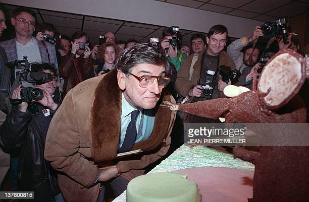 Picture dated 28 January 1989 of Belgian comics artist André Franquin at the Angoulême comics show André Franquin was the creator of Marsupilami and...