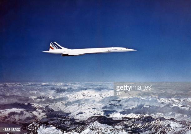 Photo datée de décembre 1975 du Concorde l'avion supersonique francobritannique Picture dated December 1975 of the Concorde the FrancoBritish...