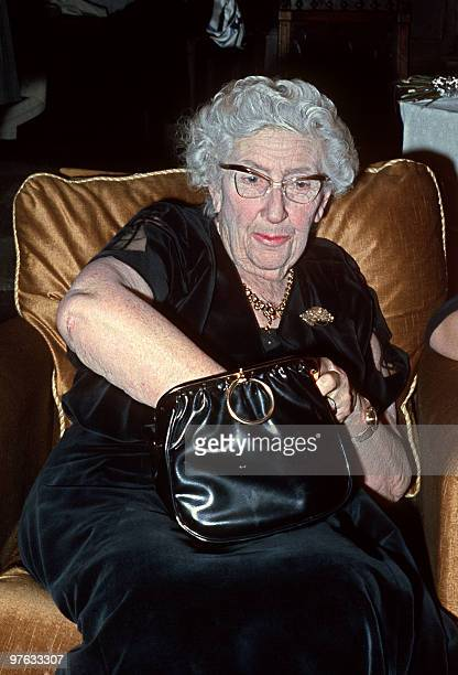 Picture dated in March 1971 in Paris of English writer Dame Agatha Christie Agatha Christie born Miller in Torquay Devon wrote under the surname of...