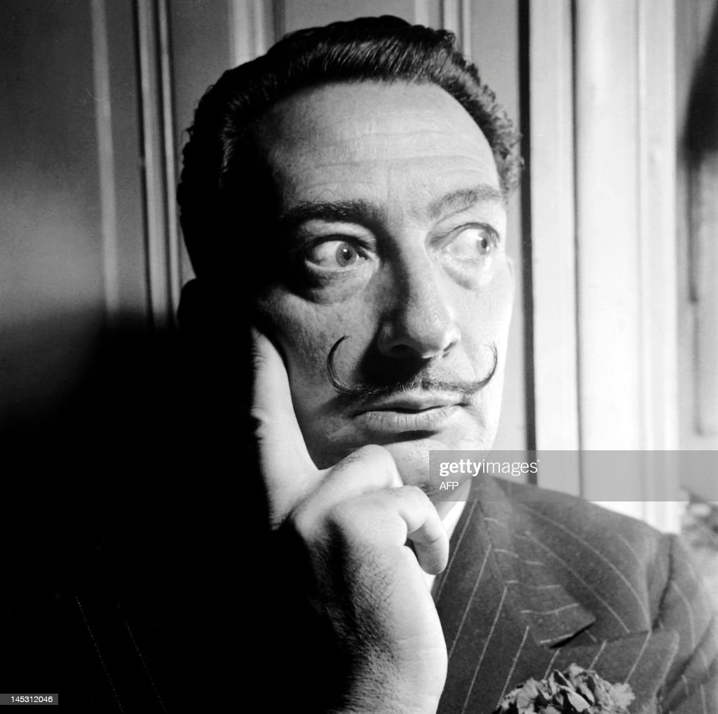 Picture dated in the 50s of Spanish artist Salvador Dali