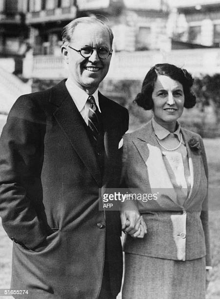 Picture dated March 1938 in Hyannis port of Rose Fitzgerald Kennedy with her husband Joseph