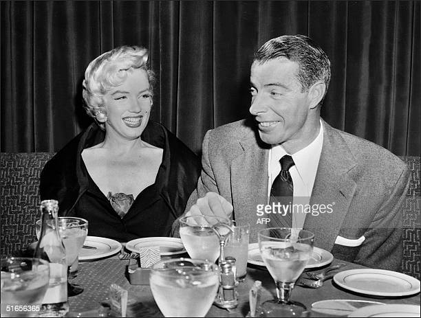 Picture dated of the fifties showing American actress Marilyn Monroe with her husband baseball legend Joe DiMaggio