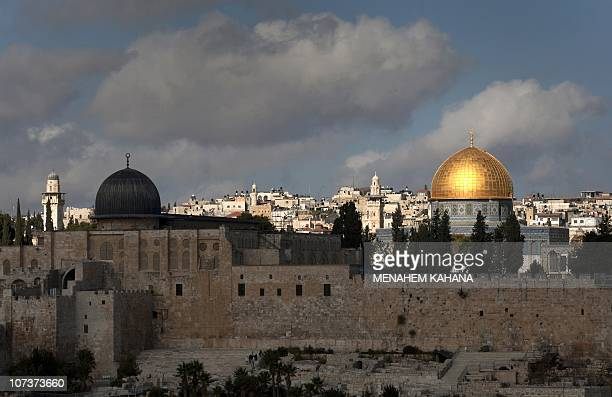 A picture dated on December 8 2019 shows a general view of the AlAqsa and the Dome of the Rock mosques in the old city of Jerusalem Israel's policies...