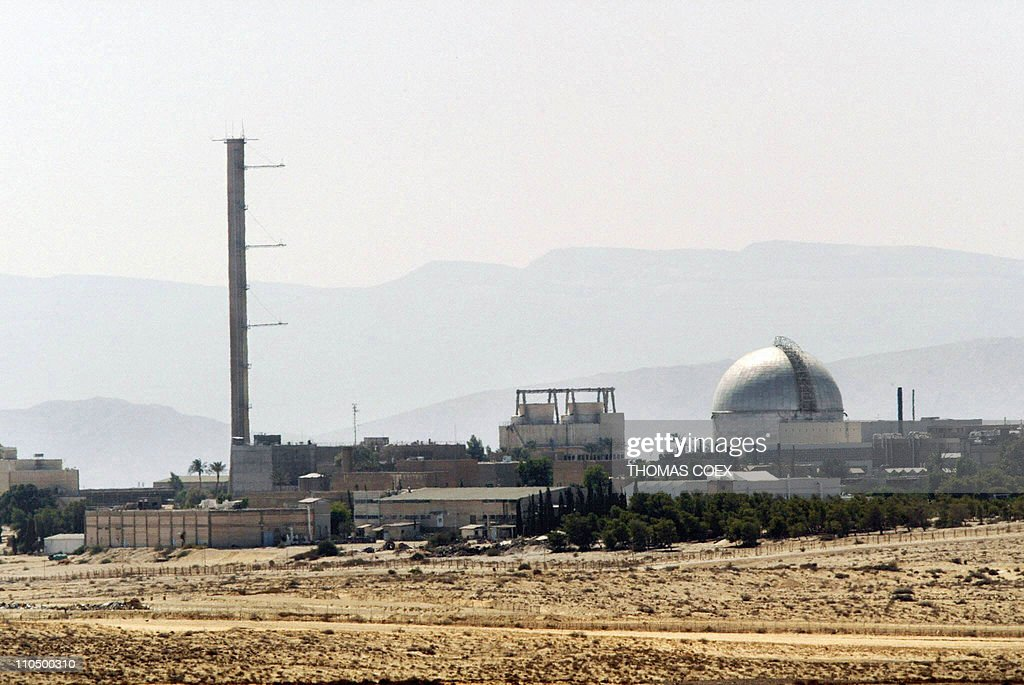 A picture dated on September 8, 2002 shows a partial view of the Dimona nuclear power plant in the southern Israeli Negev desert. The plant was built with help from the French in the 1950's, when Paris was the main arms supplier to the Jewish state. The complex was described by Israel as various types of non-nuclear facilities until then Prime Minister David Ben Gurion said in December 1960 that it was a nuclear research center built for 'peacful purposes.' Israel is reconsidering its plans of nuclear development following the nuclear catastrophe in Japan. AFP PHOTO/THOMAS COEX