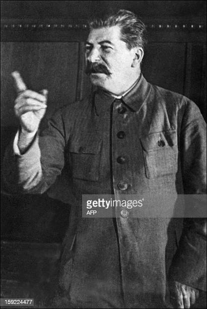 Picture dated probably in 1930s in Moscow of Yossif Vissarionovitch Dzhugashvili known as Joseph Stalin After a failed start as a novice priest...