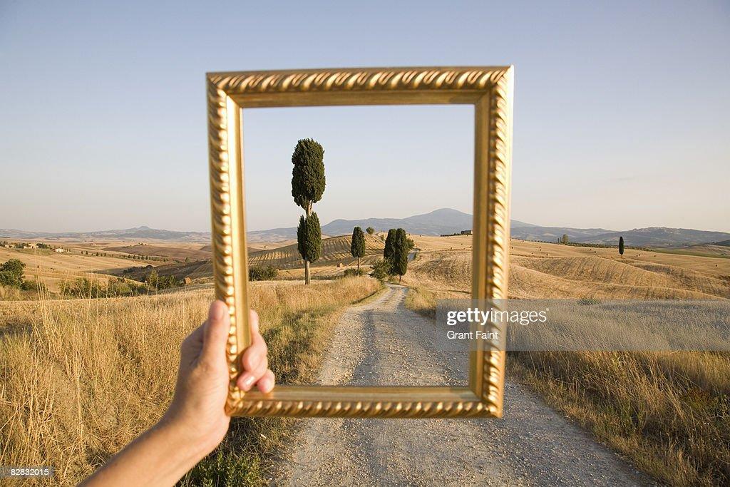 picture frame framing gravel  : Stock Photo