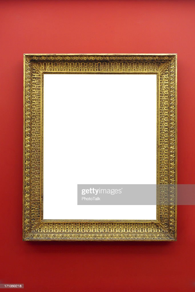 Picture Frame on Wall - XLarge : Stock Photo