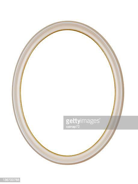 Cornice ovale bianco cerchio, isolato elemento di Design