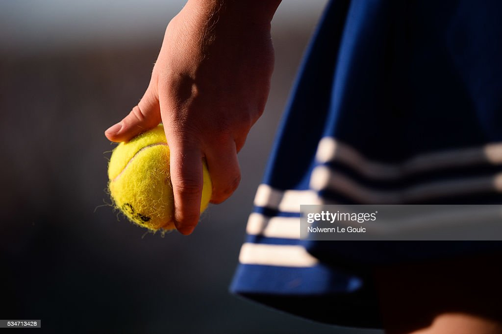Picture illustration taken during the Men's Singles third round on day six of the French Open 2016 at Roland Garros on May 27, 2016 in Paris, France.