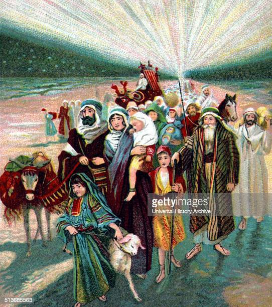 Picture lesson published by the American Baptist Publication Society [between 1900 and 1913] show scene from Old Testament Biblical stories about...
