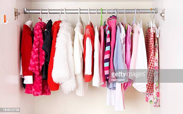 A picture of a close of children clothes