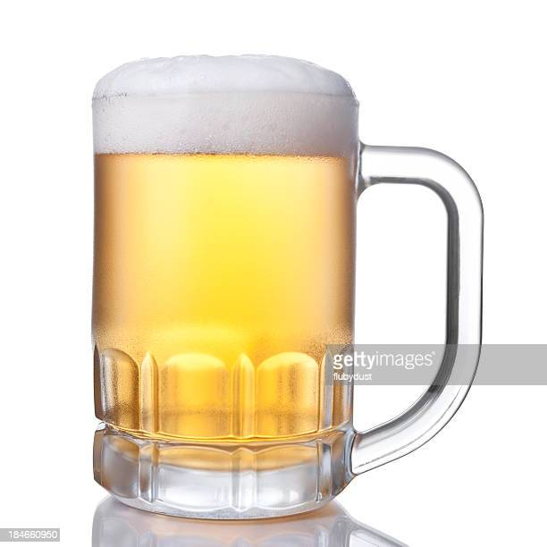 A picture of a cup full of beer