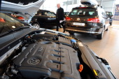Picture of a diesel engine taken on March 1 2013 in a store in Quimper northwestern France AFP PHOTO / FRED TANNEAU