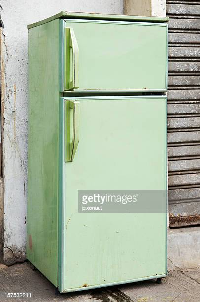 A picture of a green refrigerator