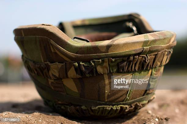 A picture of a military helmet