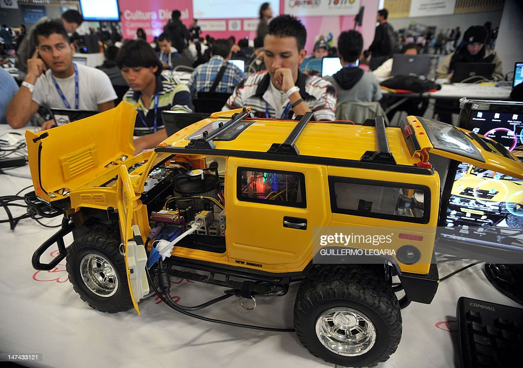 Picture of a modded computer taken at the fifth edition of Colombia's Campus Party, on June 29, 2012, in Bogota. The Campus Party is considered the biggest event of technology, innovation, creativity, leisure and culture in the digital network world. AFP PHOTO/Guillermo LEGARIA