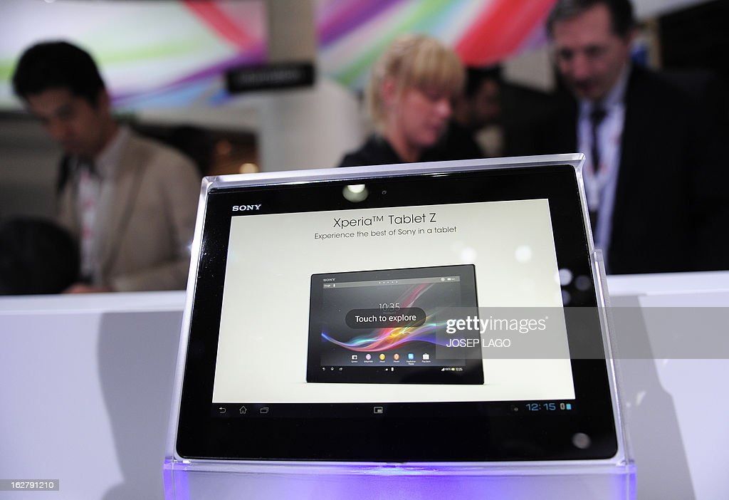 Picture of a new product Xperia Tablet Z by Sony taken on February 27, 2013 at the Mobile World Congress, the world's biggest mobile fair, in Barcelona. The European Union warned member states on February 26 to free up the airwaves for new, super-fast fourth generation mobile networks and threatened legal action against those that deliberately block the process.