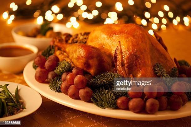 A picture of a turkey on a plate