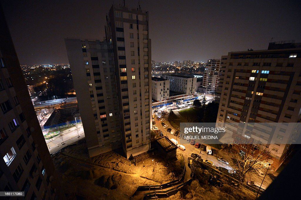 FAURE - Picture of appartments buildings taken, on March 30, 2013 in Epinay-sur-Seine, Paris' suburb. AFP PHOTO MIGUEL MEDINA