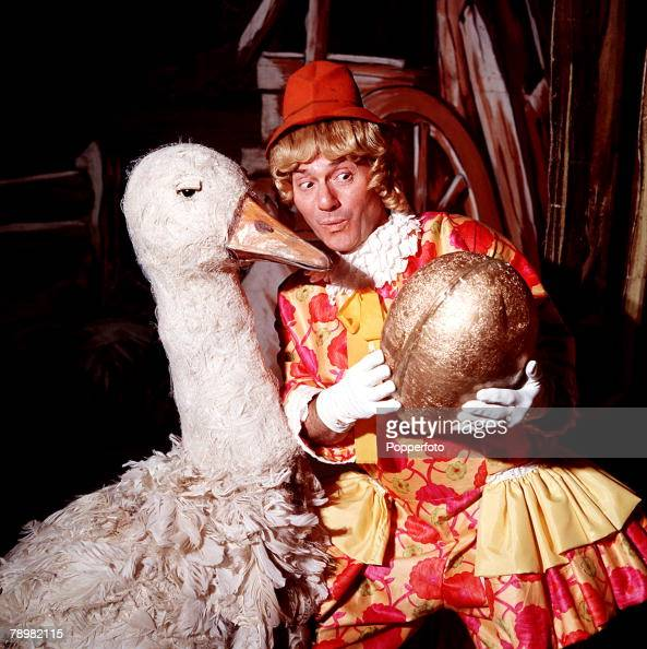 1968 A picture of British actor and comedian Dick Emery in a scene from the pantomime 'Mother Goose'