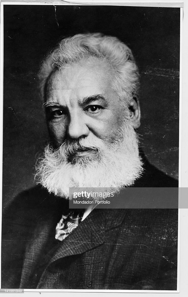 Picture of British inventor and scientist <a gi-track='captionPersonalityLinkClicked' href=/galleries/search?phrase=Alexander+Graham+Bell&family=editorial&specificpeople=114041 ng-click='$event.stopPropagation()'>Alexander Graham Bell</a>. USA, 1910s