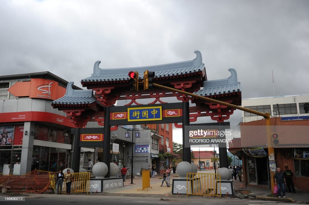 Picture of Chinatown in downtown San Jose, Costa Rica, taken on November 8, 2012. AFP PHOTO/Rodrigo ARANGUA /
